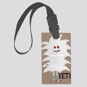 Yeti Sighting! Greeting Card Large Luggage Tag