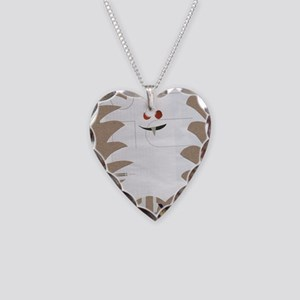 Yeti Sighting! Greeting Card Necklace Heart Charm