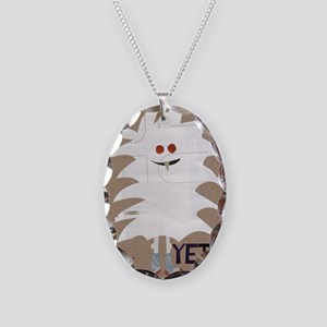 Yeti Sighting! Greeting Card Necklace Oval Charm