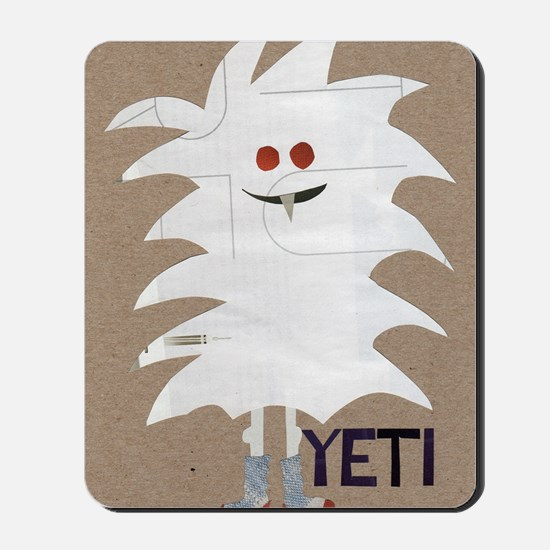 Yeti Sighting! Greeting Card Mousepad