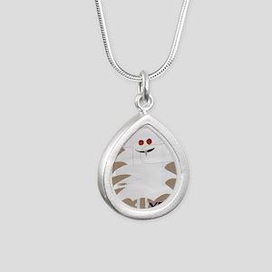 Yeti Sighting! Greeting  Silver Teardrop Necklace