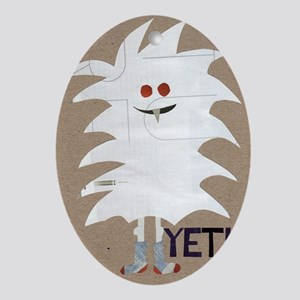 Yeti Sighting! Greeting Card Oval Ornament