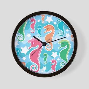Cute Seahorses Wall Clock