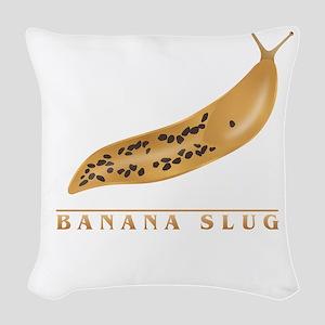 Banana Slug Woven Throw Pillow