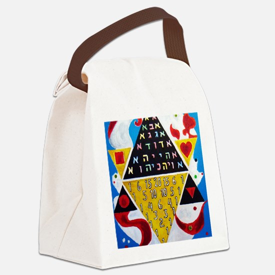 Cabalistic Message in Pascals Tri Canvas Lunch Bag