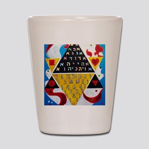 Cabalistic Message in Pascals Triangle Shot Glass