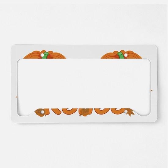Halloween Pumpkin Renee License Plate Holder