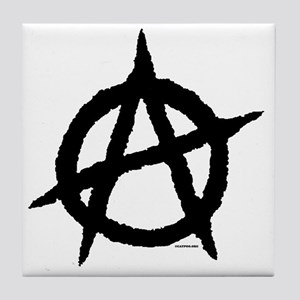 ***R-Anarchy16x16TRANSblackUSETHIS Tile Coaster