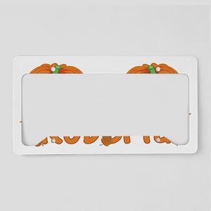 Halloween Pumpkin Roberta License Plate Holder