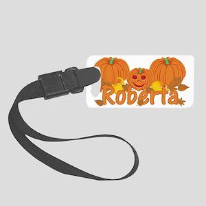 Halloween Pumpkin Roberta Small Luggage Tag