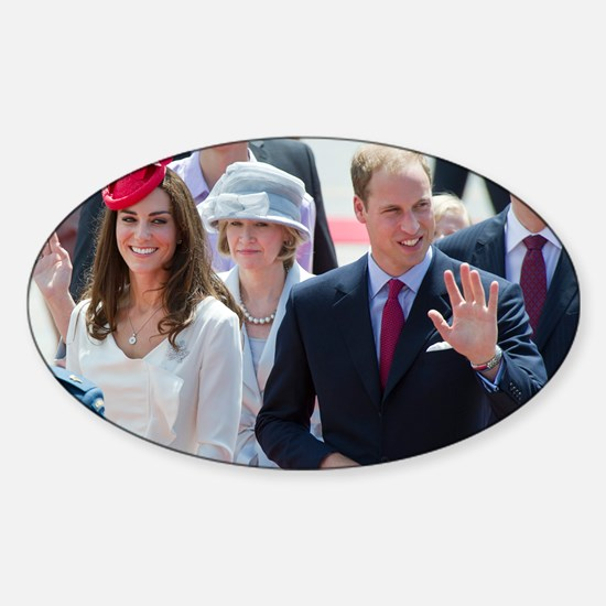 Will and Kate Sticker (Oval)