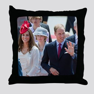 Will and Kate Throw Pillow