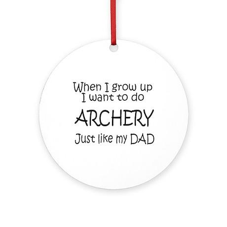 WIGU Archery Dad Ornament (Round)