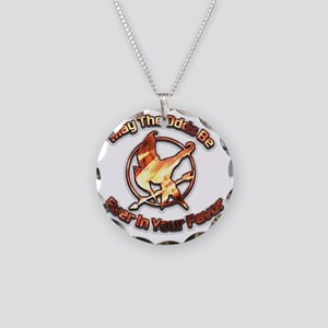 May the odds flame Necklace Circle Charm