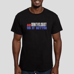 Ornithologist Do It Be Men's Fitted T-Shirt (dark)