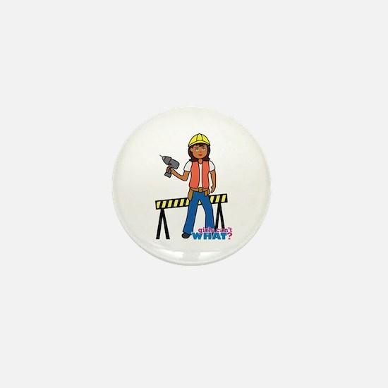 Construction Worker Woman Mini Button