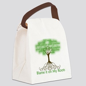 Blame it on My Roots Canvas Lunch Bag
