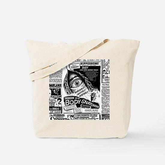 Movie Ad Body Snatchers Tote Bag