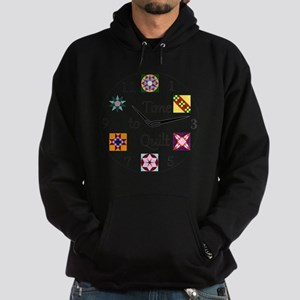 Time to Quilt Clock Hoodie (dark)