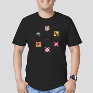 Time to Quilt Clock Men's Fitted T-Shirt (dark)