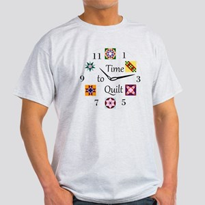 Time to Quilt Clock Light T-Shirt