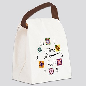 Time to Quilt Clock Canvas Lunch Bag