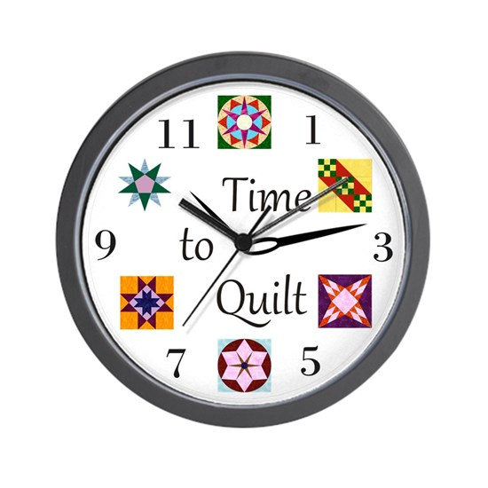 Time to Quilt Clock