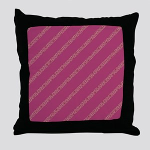 Fashion Pink Striped Throw Pillow