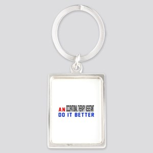 Occupational Therapy Assistant D Portrait Keychain
