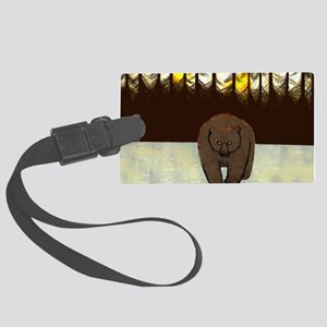 The Bear Greeting card Large Luggage Tag