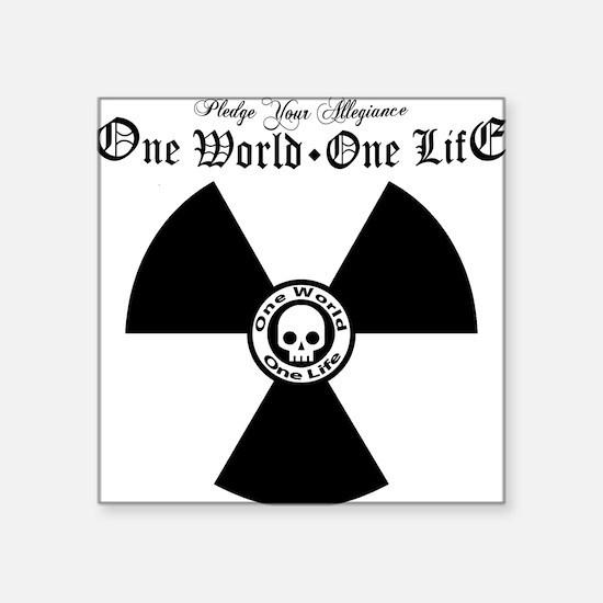 "One World One Life Allegian Square Sticker 3"" x 3"""