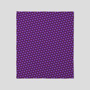 Funky Purple Pattern Throw Blanket