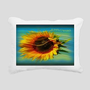 sunflower in the wind Rectangular Canvas Pillow