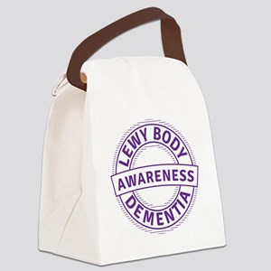 Lewy Body Dementia Awareness Canvas Lunch Bag