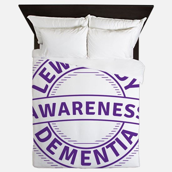 Lewy Body Dementia Awareness Queen Duvet