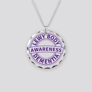Lewy Body Dementia Awareness Necklace Circle Charm