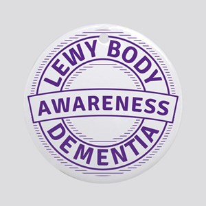 Lewy Body Dementia Awareness Round Ornament
