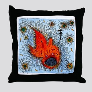 Bottom Fish by Alp Ozberker Throw Pillow