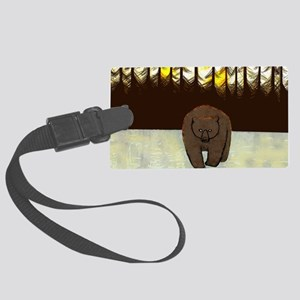 The Bear note card Large Luggage Tag