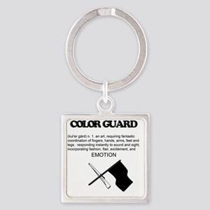 Guard Definition Square Keychain