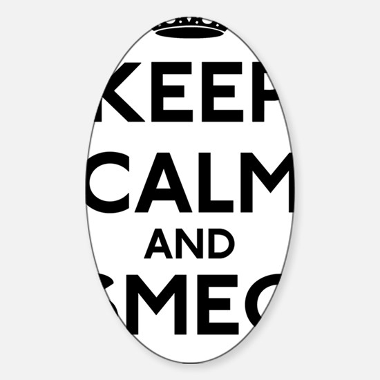 Keep Calm and Smeg Off Sticker (Oval)