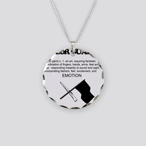 Guard Definition Necklace Circle Charm
