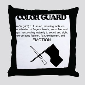 Guard Definition Throw Pillow