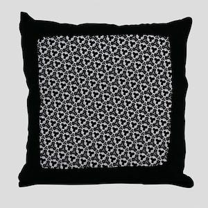 Elegant Black And White Throw Pillow