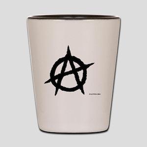 R-AnaLuggTagLargewhite-d Shot Glass