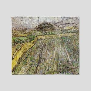 Vincent Van Gogh Rain Throw Blanket
