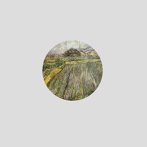 Vincent Van Gogh Rain Mini Button