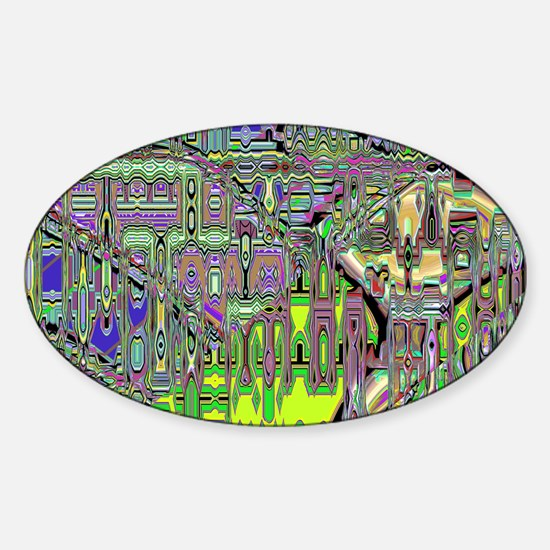 Gumby Loves Gidget B PC Sticker (Oval)
