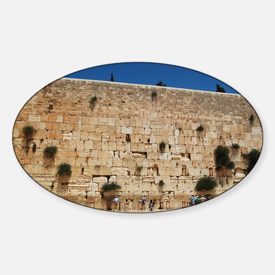 Western Wall (Kotel), Jerusalem, Is Sticker (Oval)