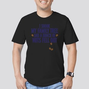 nuts fell out Men's Fitted T-Shirt (dark)